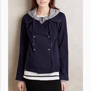 Hei Hei Navy Layered Jacket from Anthropologie